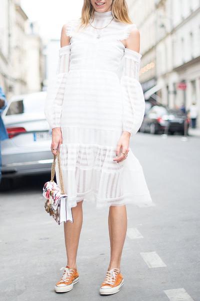 Little White Dress for Formal Lunch
