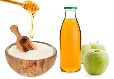 Tepung beras, Madu dan Cuka Apel