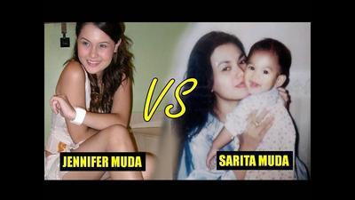 Terungkap Foto Waktu Mudanya! Jennifer Dunn VS Sarita Abdul, siapa yang lebih cantik?