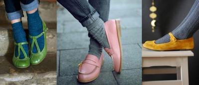 Kaos Kaki dan Flat shoes