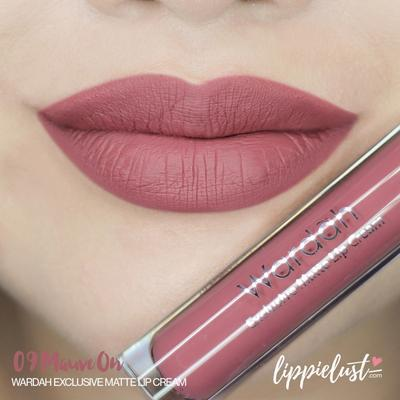 Wardah Exclusive Lip Cream No. 09 Mauve On