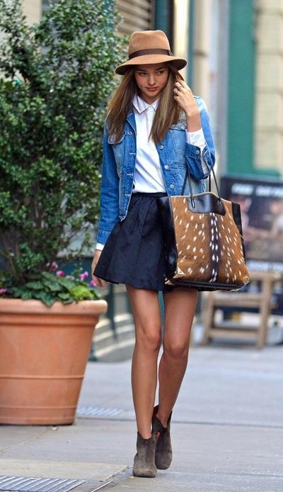 Blouse & Flared Skirt