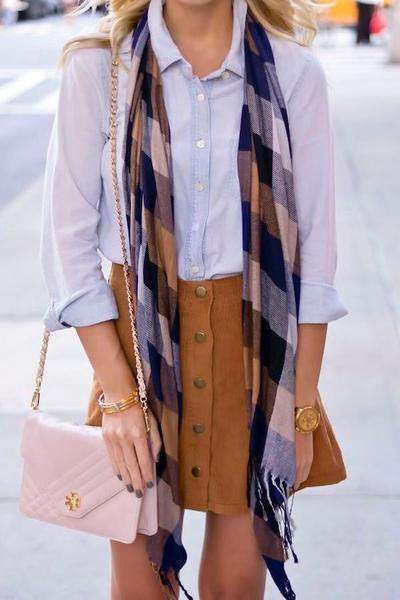 Simple Scarf With Casual Outfit