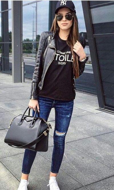 T-Shirt & Skinny Jeans