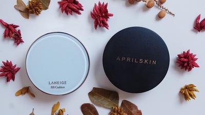 Laneige BB Cushion vs April Skin, Bagusan Mana ya?