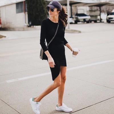 Dress Dengan Bahan Kaos