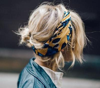 Hair Bun and Bandana