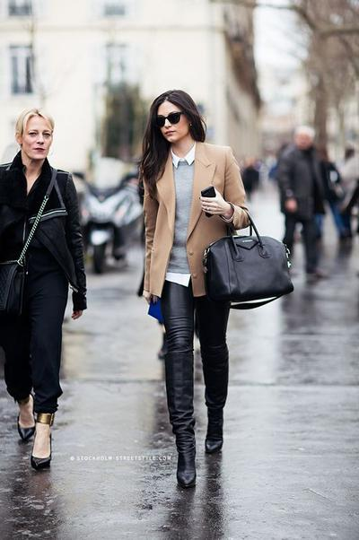 Leather Skinny Pants and boots