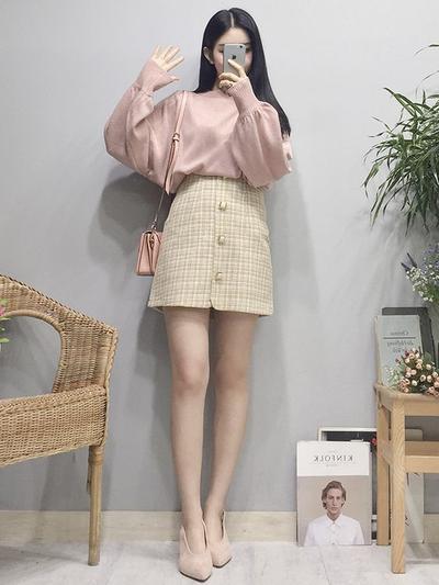 Mini Buttoned Skirt