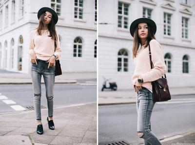 Sweater & Patent Shoes