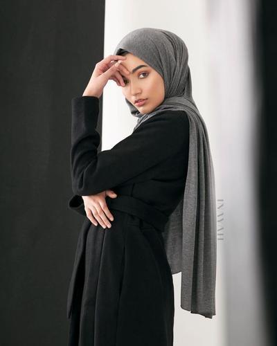 Dark Grey Hijab