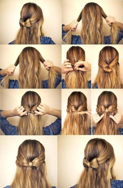 Buat Hiasan Pita dari Rambut