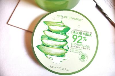 Minta pendapat dan pengalaman pakai Nature republic Aloe Vera  92% Soothing Gel. Ada yg ngga cocok?