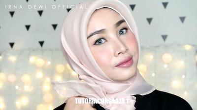 Tutorial Hijab Organza 1