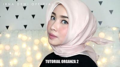 Tutorial Hijab Organza 2