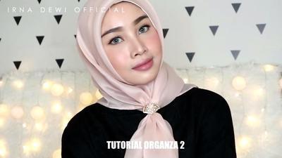 Tutorial Hijab Organza 3