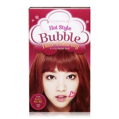 1. Etude Hot Style Bubble Hair Coloring Wine Red