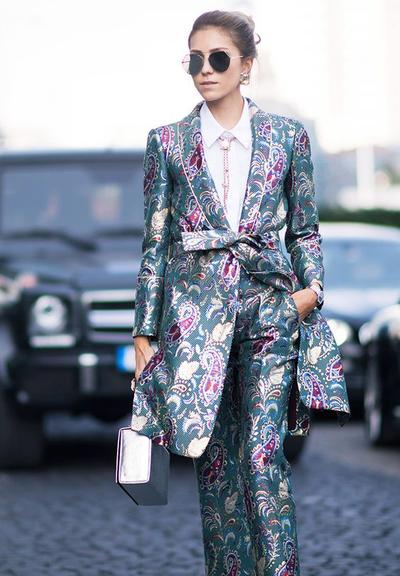 A Suit and Tie Brocade Look