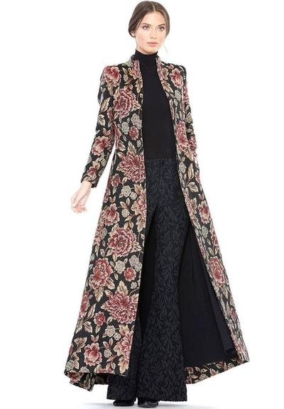 A Long-Long Brocade Blazer