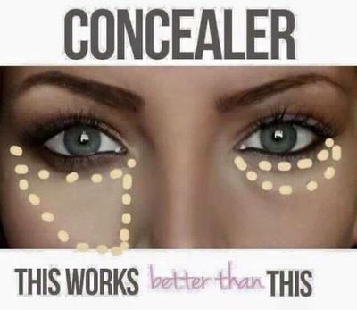 Aplikasikan Concealer dengan Bentuk Segitiga