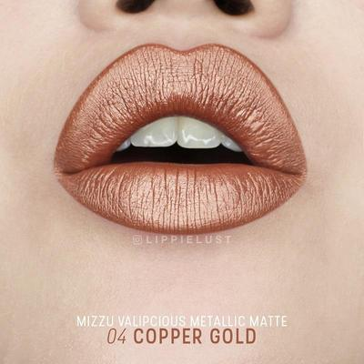 Mizzu Valipcious Metallic Matte Copper Gold