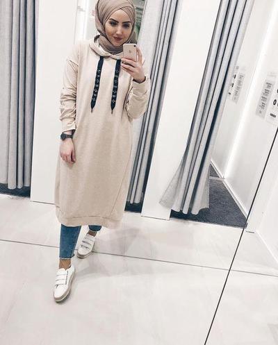 Hoodie Dress Hijab Style