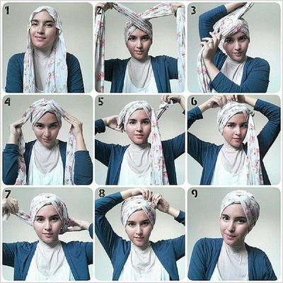 Lingkarkan Sisa Hijab Sesuai dengan Model yang Diinginkan