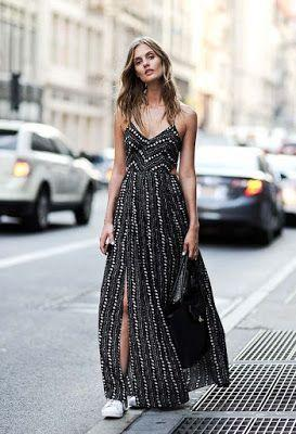 Spaghetti and Flowy Dress with Goldies Details