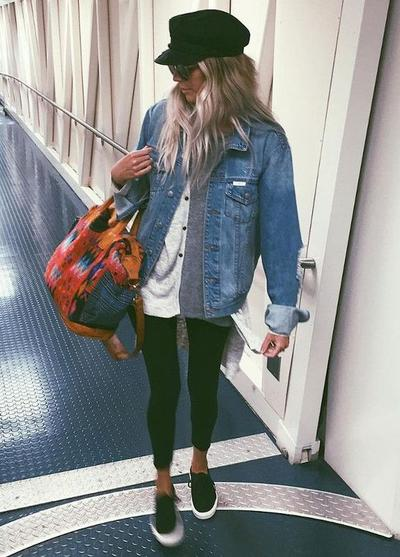 Legging and Denim Jacket for Casual Day