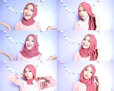 Cobain Yuk, Tutorial 7 Hijab Look dengan 1 Hijab Berikut Ini, Simpel dan Praktis Banget!