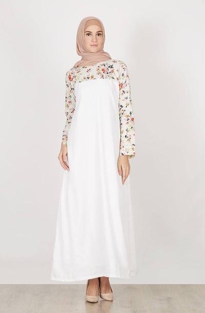 Long dress motif Bunga