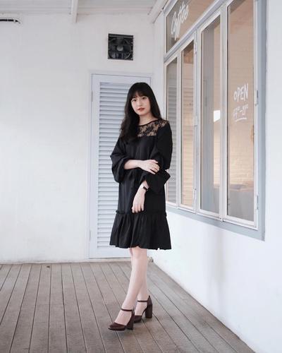 Ruffles Black Dress
