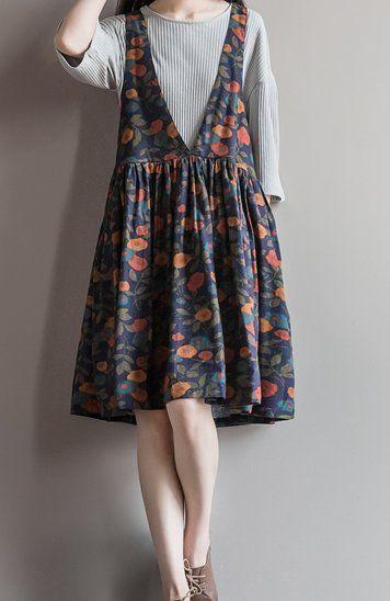 Wear a Basic Tees for Basic Layer with Flower Dress