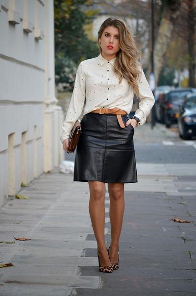 rok kulit untuk kerja