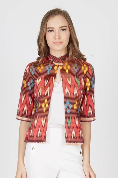 blazer batik untuk kerja