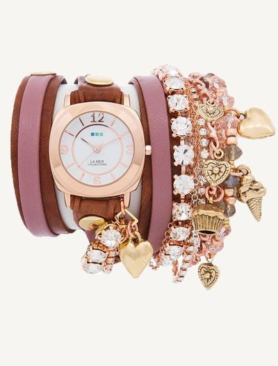 1. Rose Gold Wrap Watch
