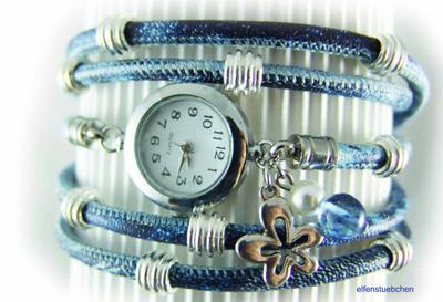 3. Blue Studded Wrap Watch