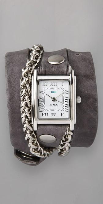 4. Silver Wrap Watch