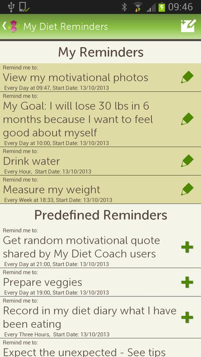 Fitur: Diet Reminder