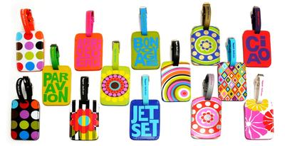 3. Colorful Luggage Tags