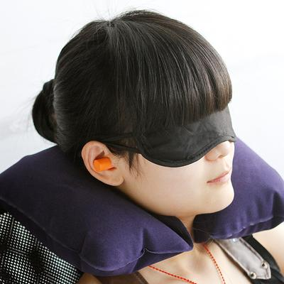 8.  Travel neck pillow, ear plugs and eye mask