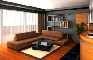 1. Sofa putih yang bersih sampai coklat yang hangat