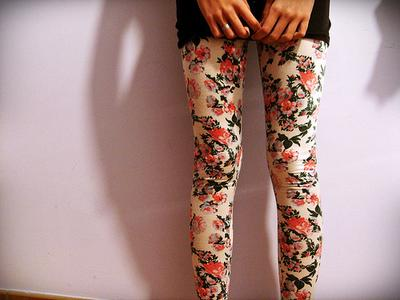 Serunya Warna Warni Printed Legging