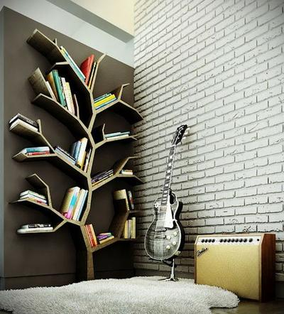 7. Rak Buku Pohon