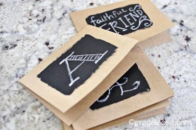 2. Chalkboard Card