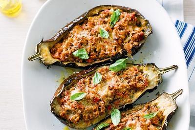 2. Bolognese-stuffed Eggplants