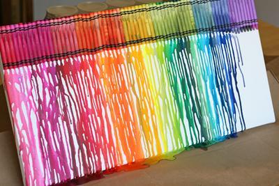 Melt Crayon Art