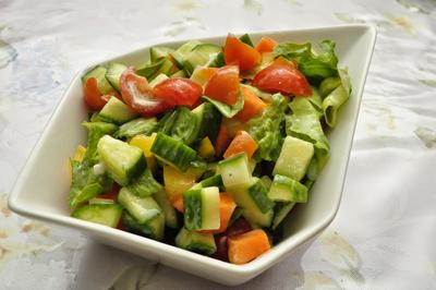 1. Simple Salad with Yogurt Vinegar Dressing