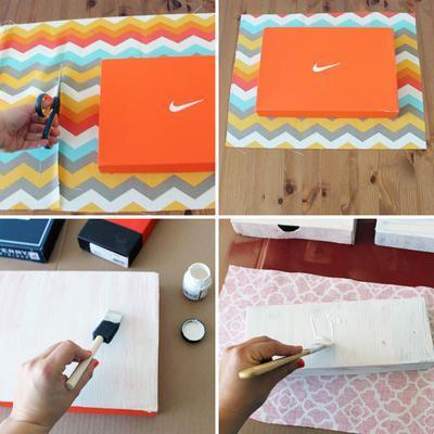 Cara Membuat Hiasan Dinding Dari Kotak Sepatu