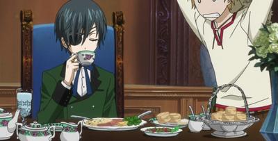 Makanan yang disajikan Sebastian untuk Ciel